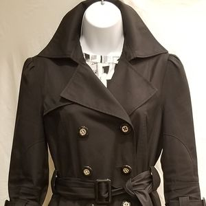 Black Guess Trenchcoat